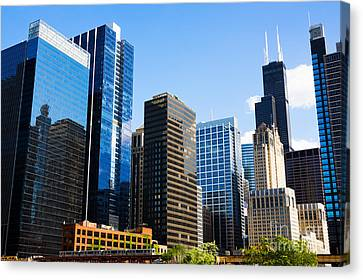 Chicago Skyline Downtown City Buildings Canvas Print by Paul Velgos