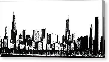 Chicago Skyline Canvas Print by Matthew Formeller