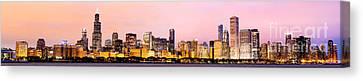 Chicago Skyline Panoramic Canvas Print by Paul Velgos