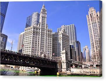 Chicago Wrigley Building Canvas Print by Dejan Jovanovic