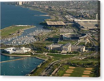 Chicagos Lakefront Museum Campus Canvas Print by Steve Gadomski