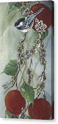 Chickadee Too Canvas Print by Meldra Driscoll