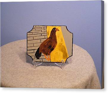 Chicken In Key West Canvas Print by Tina Brown
