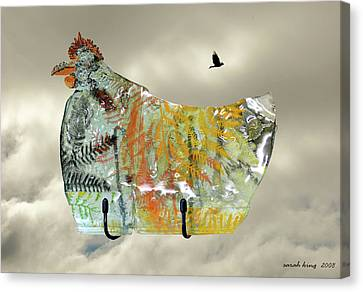 Chicken Pie Canvas Print by Sarah King
