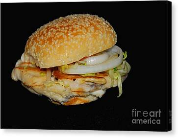 Canvas Print featuring the photograph Chicken Sandwich by Cindy Manero
