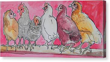 Chickens Canvas Print by Jenn Cunningham