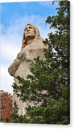 Chief Blackhawk Statue Canvas Print by Bruce Bley