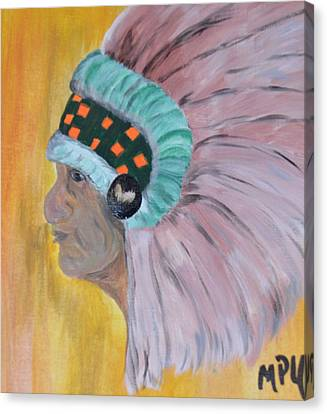 Canvas Print featuring the painting Chief by Maria Urso