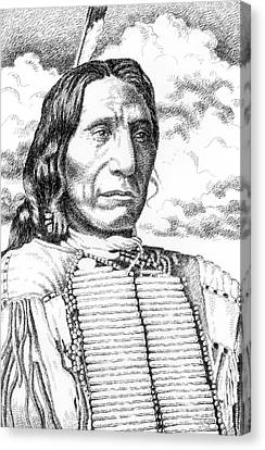 Chief-red-cloud Canvas Print by Gordon Punt