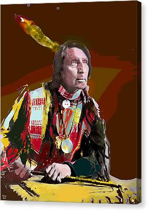 Chief Red Shirt Canvas Print by Charles Shoup