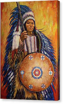 Canvas Print featuring the painting Chief Two by Charles Munn