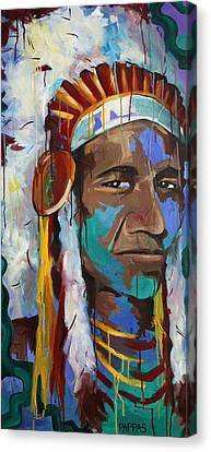 Chiefing Canvas Print