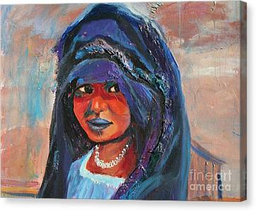 Child Bride Of The Sahara - Close Up Canvas Print by Avonelle Kelsey