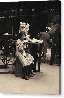 The Bowery Canvas Print - Child Labor, Minnie Paster, 10 Years by Everett