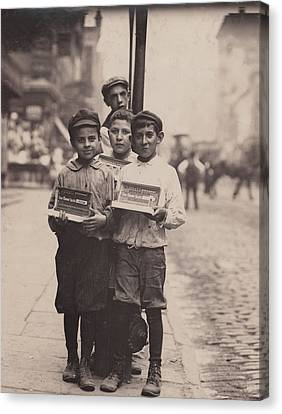 The Bowery Canvas Print - Child Labor, Vendors On The Bowery, New by Everett