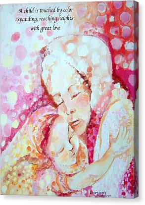 Child Of Love Canvas Print by Mary Armstrong