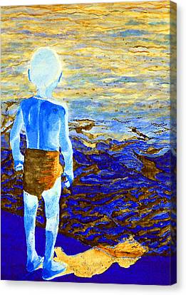 Child Of The Sea 2 Canvas Print by Duwayne Washington