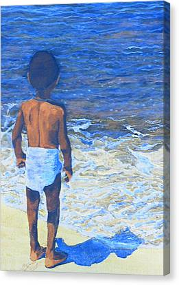 Child Of The Sea Canvas Print by Duwayne Washington