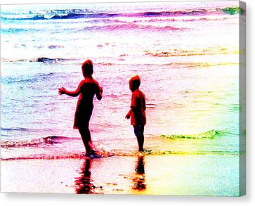 Childhood At The Beach Canvas Print
