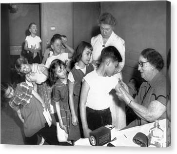 Children Inoculated Against Diphtheria Canvas Print by Everett