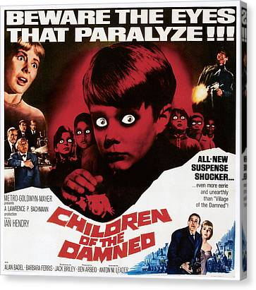 1963 Movies Canvas Print - Children Of The Damned, 1963 by Everett
