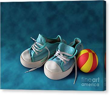 Sneakers Canvas Print - Children Sneakers by Carlos Caetano