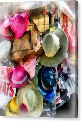 Street Scenes Canvas Print - Children's Hats by Susan Savad