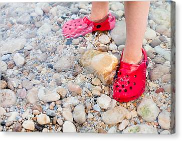 Child's Feet Canvas Print by Tom Gowanlock