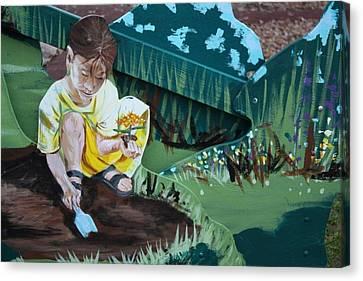 Child's Garden Canvas Print by Jan Swaren