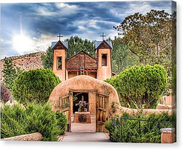 Chimayo Church Canvas Print by Anna Rumiantseva