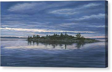 Chimney Island Canvas Print by Richard De Wolfe