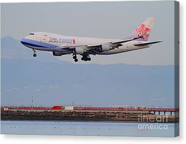 China Airlines Cargo Jet Airplane At San Francisco International Airport Sfo . 7d12299 Canvas Print by Wingsdomain Art and Photography