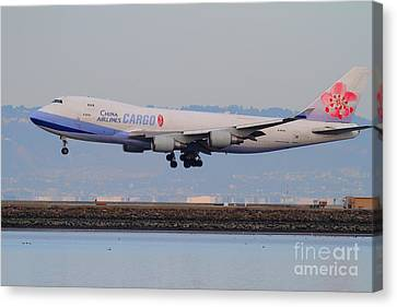 China Airlines Cargo Jet Airplane At San Francisco International Airport Sfo . 7d12301 Canvas Print by Wingsdomain Art and Photography