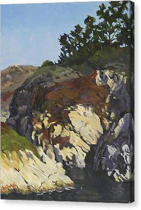 China Cove Cliffs Canvas Print by Marian Fortunati