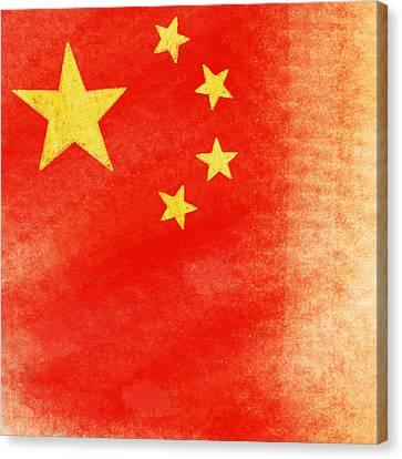 China Flag Canvas Print by Setsiri Silapasuwanchai