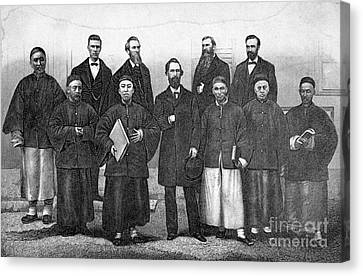 China: Missionaries, 1876 Canvas Print by Granger