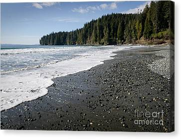 China Beach Canvas Print - China Wave China Beach Juan De Fuca Provincial Park Vancouver Island Bc by Andy Smy
