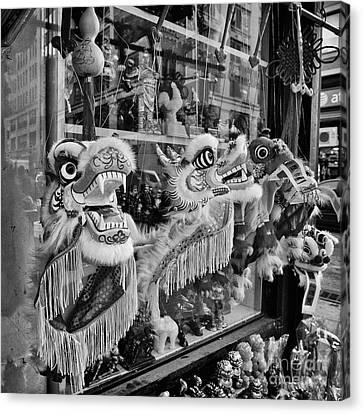 Chinatown Dragons Nyc Canvas Print by John Farnan