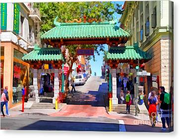 Chinatown Gate In San Francisco . 7d7139 Canvas Print by Wingsdomain Art and Photography
