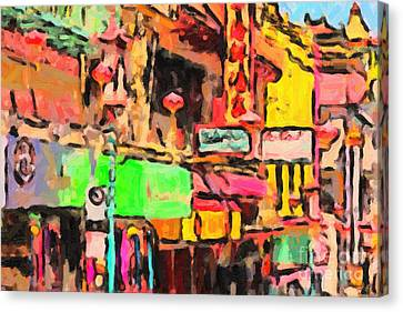 Chinatown In Abstract Canvas Print by Wingsdomain Art and Photography