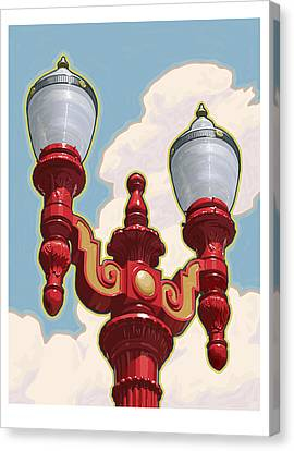 Chinatown Street Light Canvas Print by Mitch Frey