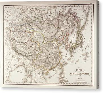 Chinese And Japanese Empires Canvas Print by Fototeca Storica Nazionale