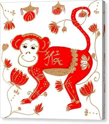 Chinese Astrology Monkey Canvas Print