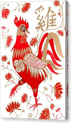 Chinese Astrology Rooster Canvas Print
