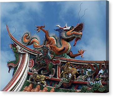 Chinese Dragon Canvas Print by Steve Huang