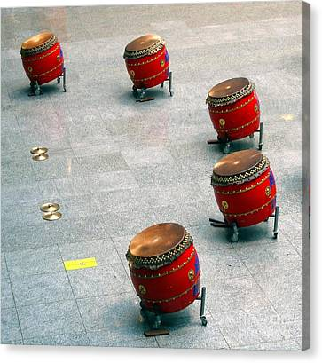 Chinese Drum Set Canvas Print by Yali Shi