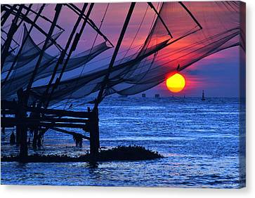 Chinese Fishing Nets Canvas Print