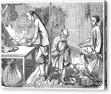 Chinese Immigrants, 1855 Canvas Print by Granger