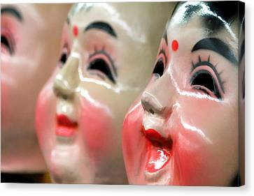 Chinese Masks Canvas Print