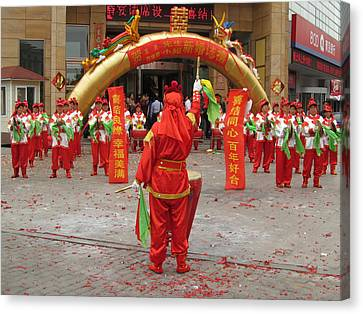Chinese Wedding Celebration Canvas Print by Alfred Ng